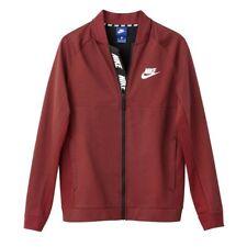 Nike Advance Varsity Style Zip-Up Sweatshirt Burgundy 2XL TD081 QQ 07