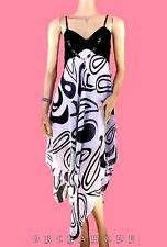 Robe déstructurée Graphique T. UNIQUE = 38 40 42 44 46 noir bijou NEUF Dress été