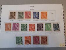 timbres France : Mercure 1938 - 1940 YT n° 404 à 416 A