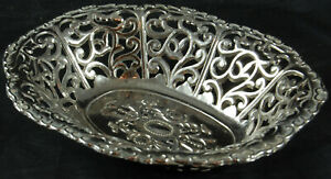 Pierced Metal Dish - Foreign
