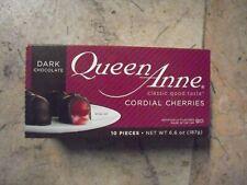 New 6.6 oz Queen Anne, Cherry Cordials, Dark Chocolate, 10 Pieces
