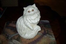Vintage Persian Cat Life Size Ceramic Statue Figurine Unusual Design