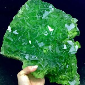 5140g Complete Deep Green Cubes Fluorite Crystal Cluster Mineral Specimen/China