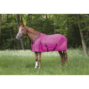 "EQUITHEME ""ECLET"" HORSE FLY RUG FLY SHEET NEON PINK AND NEON GREEN SALE"