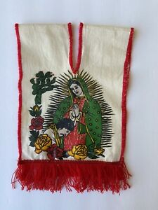 Vintage Baby Children's Size 3m-6m Mexican Poncho Religious Art