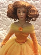 Franklin Mint Heirloom Doll, Collectible, Dolls, Ladies, Vintage. 80's In Box!