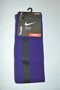 New $25 Nike Elie Cushioned Over the Calf Purple Socks Mens 6-8 Women's 6-10 M