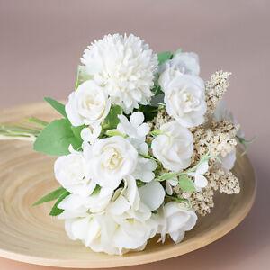 Silk Peony Artificial Fake Flowers Bunch Bouquet Home Wedding Party Garden Decor