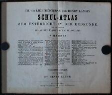 Th. v. Liechterstern, Henry Lange. Schul-Atlas. 1869.