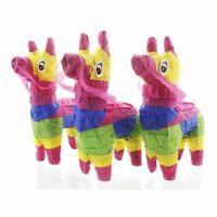 """3 Pack Miniature Donkey Pinata, Rainbow, Mini-Sized Mexican Pinata, 4 x 7.5 x 2"""""""