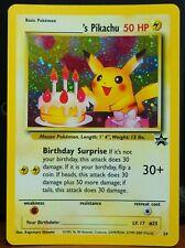 Birthday Pikachu #24 Holo Rare Black Star Promo Pokemon Card NM-EX Condition
