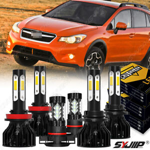 For Subaru XV Crosstrek 2013 2014 Combo 6x LED Headlight High Low Fog Light Kit