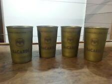 lot de 4 verres à rhum gobelets métalliques Bacardi Cuba Libre