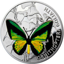 The Goliath Birdwing Butterflies Proof Silver Coin 1$ Niue 2012