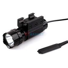 T6 LED 800LM Mini Tactical Flashlight W/ Weaver Picatinny Rail Mount