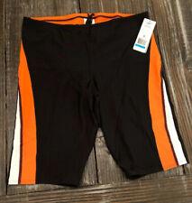 Speedo Endurance+ Launch Splice Jammer Swim Phelps Black Orange Mens Size 36