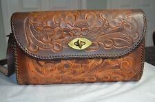New listing Vintage Joo-Kay Hand Tooled Leather Purse Handbag with Adjustable Strap Western
