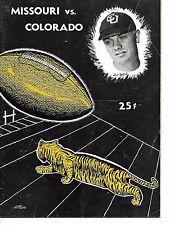 1953 Colorado-Missouri Program Tigers Upend Buffs NICE!!