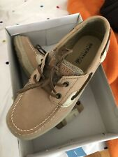 Kids Boys Sperry Bluefish Linen Oat Tan Size US 3.5  Shoes New
