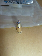 Pair Of Motorcycle Tyre Bullet Valve Caps 24 CARROT GOLD