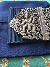More details for silver coloured antique 2 piece  nurses buckle