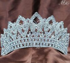 Butterfly Wedding Brides Tiara Crown Rhinestones Headpiece Miss Pageant Party