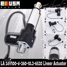 "4"" Stroke Linear Actuator 1300lbs Max Lift for Car Boat 8mm/s Spd DC 24V"