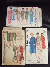 Lot of Vintage Sewing Patterns, 50's 60's Simplicity McCalls