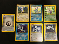 Pokemon Cards Neo Genesis 7 Holo Lot - Togetic Steelix Metal Energy Ampharos +