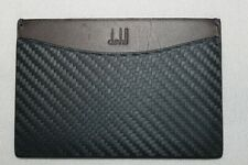 Dunhill Men's Genuine Leather Navy Made In Italy Card Case $150 NWT