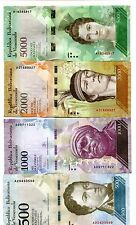 VENEZUELA 500 1000 2000 5000  BOLIVARES 2016 (2017) P-NEW UNC SET OF 4