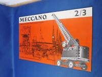 MECCANO INSTRUCTION BOOKLET NO. 2/3 VINTAGE BUILDING TOY MANUAL ENGLAND