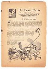 THE BEAST PLANTS by H. Thompson Rich from ARGOSY July 26, 1930 pulp excerpt