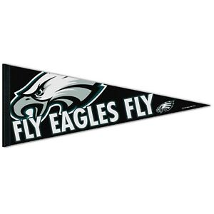 "PHILADELPHIA EAGLES PREMIUM QUALITY PENNANT 12""X30"" CUSTOM EXCLUSIVE NFL LICENSE"