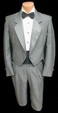 Mens Grey Raffinati Tuxedo Tailcoat with Pants Retro Prom Wedding Groom 41 Short