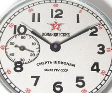 EARLY MILITARY Soviet USSR Pocket watch Molnija SMERSH Death to Spies 2-1951