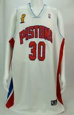 Rasheed Wallace #30 NBA Basketball Detroit Pistons Authentic Reebok White Sz 60