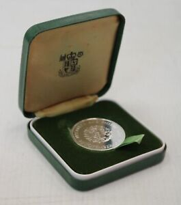 1972 Royal Mint .925 SILVER PROOF 25 New Pence SILVER WEDDING Coin BOXED - D28