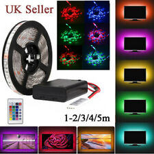 Dimmable RGB LED Strip Battery Operated 3528 TV Back Lighting Remote Waterproof