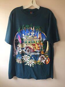 vintage 1994 Warner bros bugs bunny t-shirt mens size large Green Surf Scene