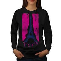 Wellcoda Paris Womens Sweatshirt, Fashion Casual Pullover Jumper