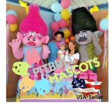 NEW MASCOT COSTUME-TROLLS MASCOT -CLOWNS-BIRTHDAYS-TROLL-US SELLER__POPPY_BRANCH