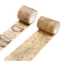 Vintage Map Washi Tape Paper Sticky Adhesive Sticker Paper Decorative DIY SU