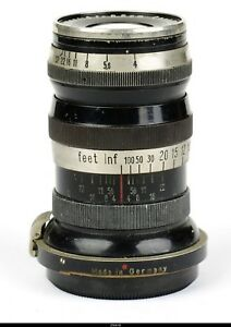 Lens Zeiss Triotar 4/8.5cm 85mm No1434448 Black Nickel  for Zeiss Ikon  Contax I