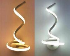 Applique a parete Moderno a Spirale per interni a led 12 watt luce calda natural