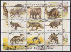 F-EX21892 GUINEE GUINEA MNH 1998 PREHISTORIC ANIMALS DINOSAUR. CORNER BEND .