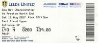 Ticket - Leeds United v Preston North End 12.08.17
