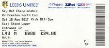 BIGLIETTO-Leeds United V Preston North End 12.08.17