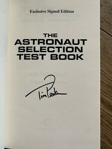 Tim Peake signed book The Astronaut Selection Test Book 1st/1st