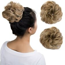 Real Natural Curly Messy Bun Hair Piece Scrunchie New Fake Hair Extensions LC